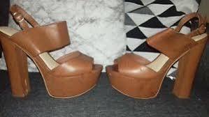 New Look Tan Brown <b>Platform Chunky Gladiator</b> Block <b>Heels</b> ...