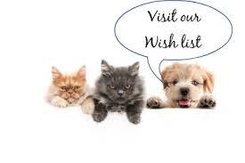 Image result for animal shelter wish list