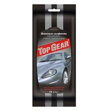<b>Салфетки влажные</b> для стекол, зеркал, фар <b>Top</b> Gear 30 штук ...