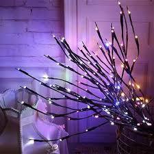 2pcs 20 Bulbs <b>LED</b> Willow <b>Branch Lamp</b> Battery Powered Natural ...