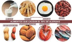Resultado de imagen de alergia alimentos bebes