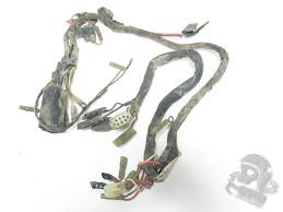 wiring harnesses grim cycle salvage 1974 1975 1974 yamaha dt175 dt100 main wiring harness loom 437 8