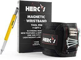 Magnetic Wristband <b>Tool</b> Holder Set-Handyman Bracelet <b>Tools</b> ...
