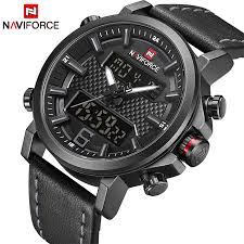 2019 <b>NAVIFORCE</b> New <b>Men's Fashion</b> Sport <b>Watch Men</b> Leather ...
