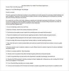 sample supervisor job description   eveep resume   when you just    supervisor job description templates sample example