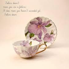 Элегантный цветочный костяной фарфор чайная чашка блюдце ...
