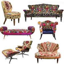 colored upholstered vintage furniture love the chair in the lower right hand corner boho style furniture