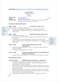 a sample of a student cv business proposal templated business international students cv writing cardiff university