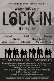 youth lock in flyer hope united methodist church 2015 youth lock in flyer