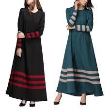 SNSD Muslim Women Islamic Stripe Print <b>Plus Size Middle East</b> ...