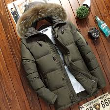 <b>Winter Men's thick</b> hooded down <b>jacket Casual mens</b> Solid color ...