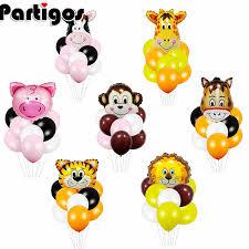 1PC <b>Animal Tiger</b> Lion Monkey <b>Zebra</b> Deer Giraffe Cow Air Helium ...