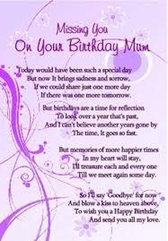 Moms Birthday in Heaven | In Loving Memory - Happy Birthday Mom In ... via Relatably.com
