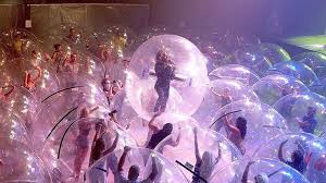 the <b>flaming lips</b> perform a concert with both the band and fans ...