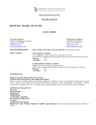 easy resume outline template easy resume outline