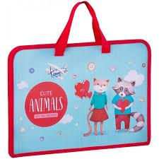 <b>Спейс Папка с</b> ручками А4 ArtSpace Cute animals 7.5 см ...