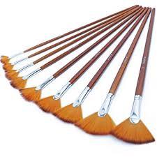 DUGATO Artist Fan Paint Brushes Set 9pcs - Soft Anti ... - Amazon.com