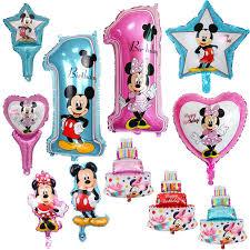 1PC <b>hot</b> aluminum balloons square Mickey <b>Minnie children's toys</b> ...