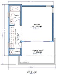 studio   Tiny Guest House Plan   custom   Contemporary    studio  floorplan studio  Small