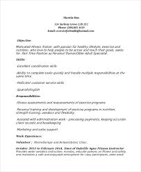 personal trainer resume template     free word  pdf document    weight loss personal trainer resume