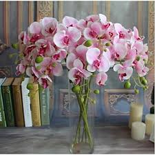 <b>5pcs Real-touch Artificial</b> Flowers Orchids Home Decor Wedding ...