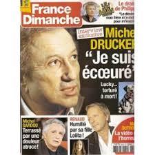 Voir toutes les offres. Faire un souhait; Partagez et gagnez 7 <b>...</b> - france-dimanche-n-03343-michel-drucker-michel-sardou-renaud-lolita-sechan-simone-signoret-annie-girardot-francis-veber-franck-dubosc-liane-foly-philippe-noiret-rene-angelil-celine-dion-revue-868474784_ML