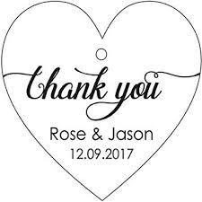 <b>100 PCS Personalized Wedding</b> Favor <b>Gift</b> Tags Thank You <b>Custom</b> ...