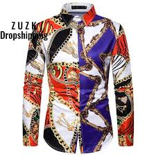 New <b>Men's Long Sleeved</b> Camisa Masculina Shirt Retro <b>Creative</b> ...