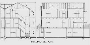 Story Townhouse Plans  Bedroom Duplex House Plans  D  House rear elevation view for D  story townhouse plans  bedroom duplex