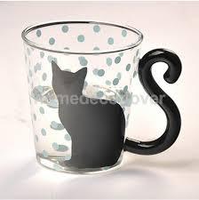 <b>Cute Creative Cat Kitty</b> Glass Mug Cup Tea Milk Coffee Music/Dots ...