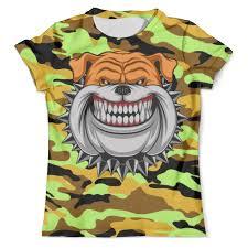 <b>Футболка</b> с полной запечаткой (мужская) BullDog (<b>Camouflage</b> ...