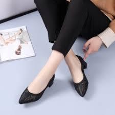 Женщины Обувь Hollow Rhinestone Насосы (Черный) - SUNSKY