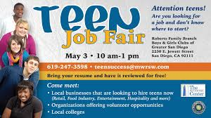 teen job fair sdmfc teen job fair 2014 slide