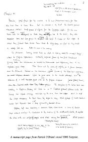 paris review patrick o brian the art of fiction no  view manuscript