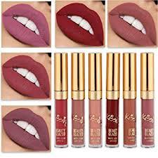Amazon.com : <b>Beauty</b> Glazed Matte Nude Liquid <b>Lipstick Lip Gloss</b> ...