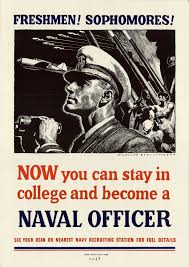 us navy recruiting posters now you can stay in college and become a naval officer collection university of north texas government documents department world war ii collection