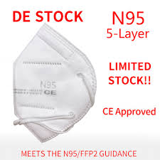 One Package with <b>10Pcs N95</b> 5-Layer Face <b>Mask Respirator</b> ...