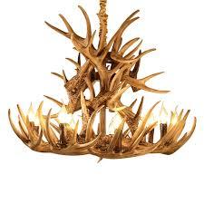 Antlers <b>Resin</b> Chandelier Lamp <b>Modern LED</b> Antler Chandelier ...