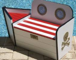 Home Decor <b>Large</b> Pirate <b>Wooden Treasure Chest</b> Storage Toy Box ...