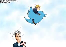 Image result for trump tweets destroying hillary tweets cartoon