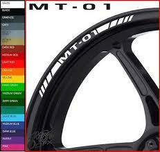 YAMAHA <b>MT 01</b> Wheel Rim Stickers Decals - 20 <b>Colors</b> Available ...