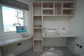 bespoke rustic white washed fitted furniture beach style home bespoke home office