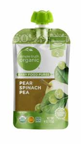 Simple Truth <b>Organic</b>™ <b>Pear</b> Spinach Pea Stage 2 <b>Baby Food</b>