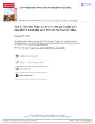 "(PDF) The Cinematic Practice of a ""cinéaste ordinaire"": Abdellatif ..."