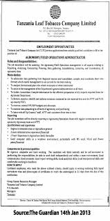 agronomy field operations administrator tayoa employment portal job description