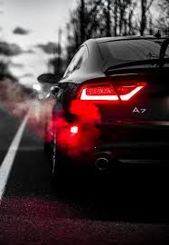 <b>Black</b> car <b>red</b> light | <b>Audi</b> a7, Car wheels, Super cars
