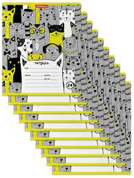 <b>Тетрадь</b> школьная ученическая <b>Stylish</b> Cats, 24 листа, клетка (в ...