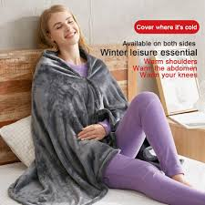 AUTCARIBLE USB <b>Heated Warm Shawl</b>, Electric <b>Heated</b> Plush ...