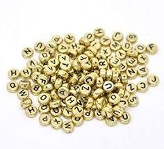 500 PCS 4 x 7mm Round Letter Beads Vintage ... - Amazon.com