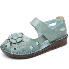Large Size <b>Women</b> Flowers Leather Stitching Flats | Products in ...